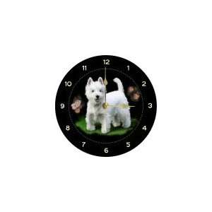 West Highland Terrier Welsh Slate Wall Hanging Clock