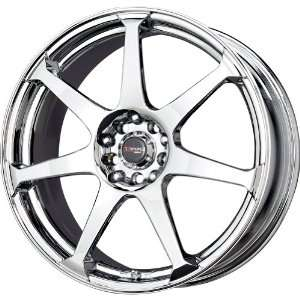 Drag DR 33 Chrome Wheel (17x7.5/5x100mm) Automotive