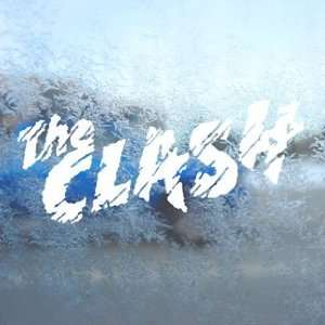The Clash White Decal Punk Band Car Window Laptop White