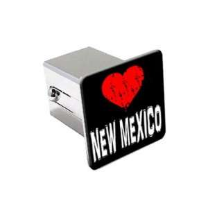 New Mexico Love   2 Chrome Tow Trailer Hitch Cover Plug