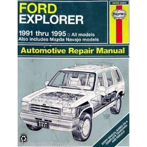 Haynes Repair Manual   Ford Explorer/Mazda Navajo SUV Everything Else