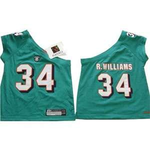 Ricky William #34 Miami Dolphins NFL Girls/Junior One shoulder Jersey