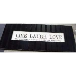 Cottage Garden DF119B Live * Laugh * Love Wall Plaque