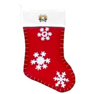 Felt Christmas Stocking Red Live Fast Die Young Skull