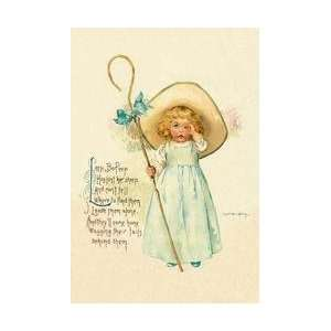 Little Bo Peep 28x42 Giclee on Canvas:  Home & Kitchen