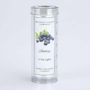 KRINGLE CANDLE Blueberry 6 pc Tea Light Tube Yankee Candle