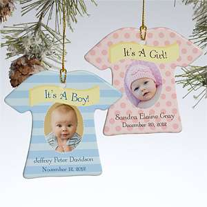 Baby Photo Christmas Ornaments   Its A Boy or Girl   10925