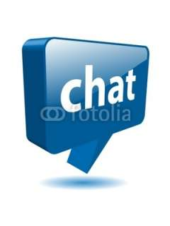 CHAT speech bubble icon (web button message internet live 3D) © Web