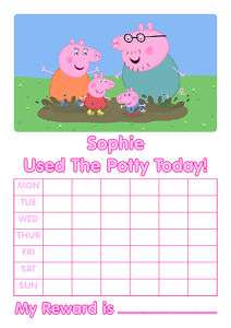 Personalised Peppa Pig Potty Training Reward Chart