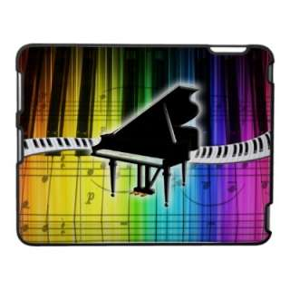 Colorful Rainbow Piano Keyboard and Music Notes Ipad Cover from Zazzle