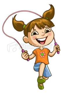 Girl Jumping Rope Royalty Free Stock Vector Art Illustration