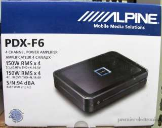 ALPINE PDX F6 4 CHANNEL POWER CAR AMPLIFIER 150W X 4 RMS AMP PDXF6