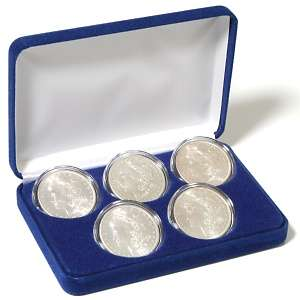Morgan Silver Dollar 5 Coin Random Dates Mint Mark Set   Extremely
