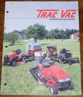 Trac Vac Lawn Care Equipment Brochure