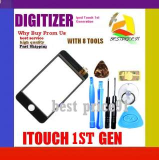 DIGITIZER GLASS REPLACEMENT for iPod Touch 1st Gen w/Tool Kit Tools