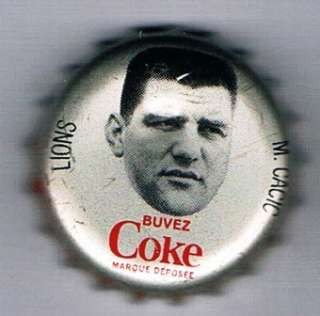 1965 Coke Caps CFL French #4 Mike Cacic