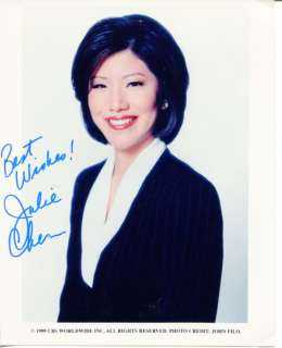 Julie Chen The Talk CBS News Big Brother The Early Show Signed