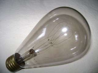 Antique Edison Carbon Filament Light Bulb 32CP 220 Volts