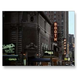 New York City Theatre District Signs W 45 Postcards by rainsplitter