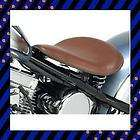 BSA NORTON BROWN SOLO SEAT 9 CHOPPER BOBBER WITH 4 BLACK SPRINGS