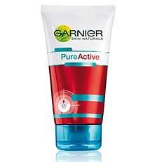 BEVINDT ZICH HIER Terug   Garnier Skin Naturals Pure Active Scrub