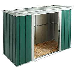 Arrow 6×4 Greenvale Metal Pent Roof Shed, with floor & assembly