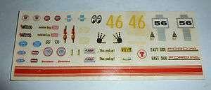 original vintage AMT 1956 FORD VICTORIA model kit decals