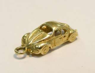 VINTAGE 14K YELLOW GOLD 3D RACE CAR ROADSTER CHARM