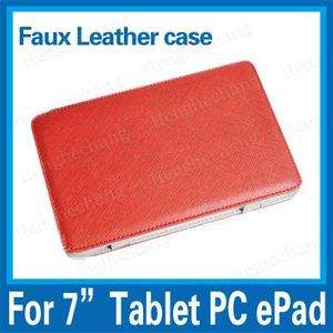 """NEW Red 7"""" 7 inch Leather Case Android Tablet PC_MID/ePad/A9/Galaxy"""