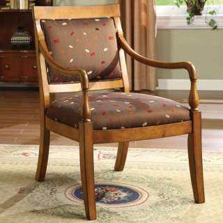 Antique Dark Cherry Finish Solid Wood Accent Chair