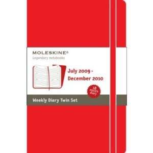 Notebook Moleskine weekly planner Book 2010 calendar
