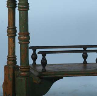 Swedish Original Green Painted Antique Side Table/Nightstand c.1920
