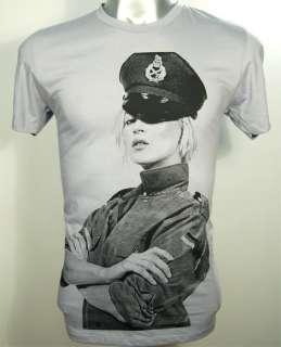 Kate Moss German Army Indie Punk Rock Shirt S   XL