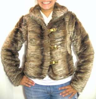 AUTHENTIC! BABY PHAT FUR JACKET COAT, BROWN, XLARGE NWT