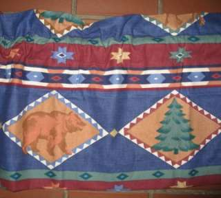 BEAR Pine Cabin Lodge Window Valance Curtain
