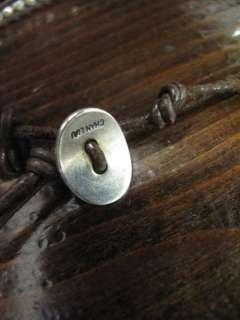 Chan Luu Brown Leather Black/Silver Beaded Bracelet