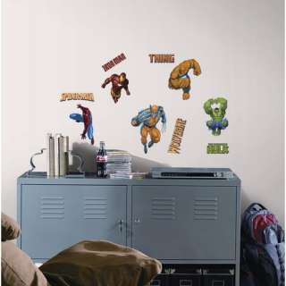 Room Mates Marvel Heroes Peel and Stick Wall Sticker Decor