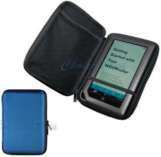 Nook Color ZIP PROTECTOR Hard Case Blue