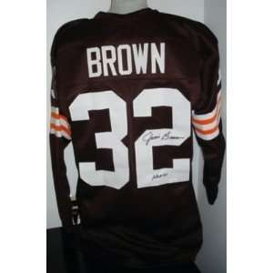 Jim Brown Autographed Jersey   Hof 71 Jsa