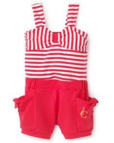 Juicy Couture Infant Girls Striped Romper   Sizes 3 24 Months