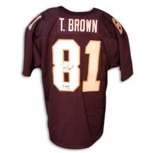 Tim Brown Signed Jersey   Blue Notre Dame   Autographed College