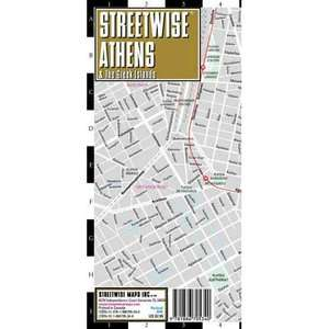 Streetwise Athens Map   Laminated City Center Street Map