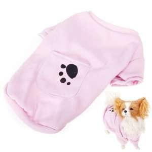 Polar Fleece Pet Dog Coat Clothes Apparel Pink Size M Pet