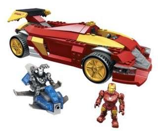 New Mega Bloks Iron Man 2 Mark VI Super Racer Vehicle Car Building Set