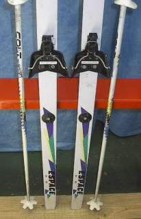 KIDS Cross Country 61 Skis 3 pin 160 cm +Poles TECNOPR
