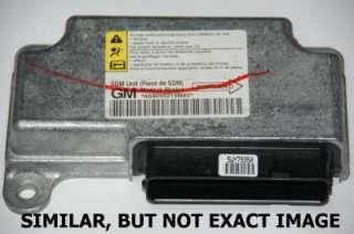 06 07 CHEVY COBALT AIR BAG AIRBAG COMPUTER SRS MODULE DERM SDM BRAIN