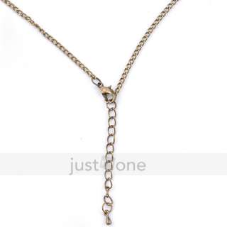 Women Ladies Gorgeous Heart Multi Charm Pendants Long Necklace Chain