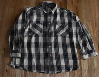 Vtg Big Mac Plaid Flannel Shirt Men XL outdoor Thick |