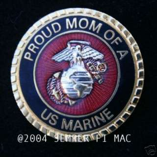 PROUD MOM OF A US MARINE PIN SON DAUGHTER DAD WM 1 MCRD GRADUATION