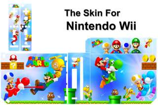 SUPER MARIO SKIN STICKE COVER DECAL for NINTENDO Wii